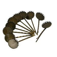 10 Pieces Vintage Hair Clips Bronze Colors Filigree Flower Headwear DIY Findings