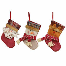 Christmas Socks Gift Candy Bag Packing Decorations Tree Ornaments Stockings 1pc