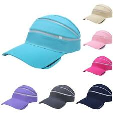 Unisex Men Women Adjustable SUN VISOR SPORTS GOLF TENNIS HEADBAND PLAIN CAP HAT