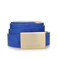 MARC JACOBS New MEN leather Blue belt Vintage Effect Made in Italy Original NWT