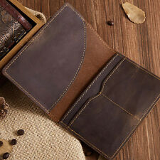 Genuine Leather Brown Bag Leather Passport Wallet Holder Case Cover Ticket Case