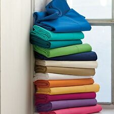 1000TC 100%Egyptian Cotton Bed Collection All Items UK-Single Size Solid Colors