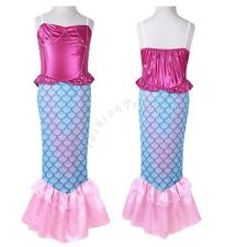 Girl Kid Shiny Mermaid Set Princess Fancy Dress Up Party Cosplay Costume Outfits