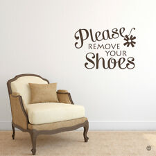Please Remove Your Shoes Vinyl Wall Decal Quote - fits nursery home decor L211