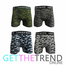Mens Boxer Classic Camouflage Underwear Camo Army Adults Shorts Brief Multipack