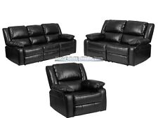 Leather Recliner Lazy Chair Loveseat and Sofa Set Living Room Furniture armchair
