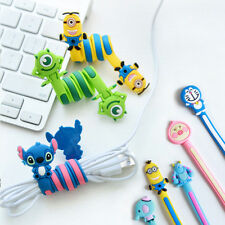 2pc Cartoon Cord Winder Cable Holder Wire Earphone Organizer Wrap Headphone Cute