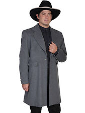 Scully Mens Wahmaker Three Pocket Frock Coat Charcoal Wool Blend