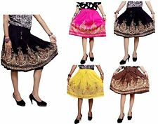 A Ethnic Hippie Boho Gypsy UK Embroidered Sequin Work Rayon Short Skirts