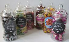 Birthday  Victorian Sweet Jars Filled with Traditional & Retro Sweets