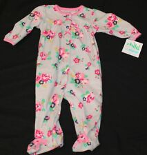 Carters Child of Mine Baby Girl Footed Sleeper Floral Size 3-6 or 6-9 months new