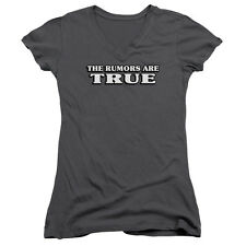 THE RUMORS ARE TRUE Humorous Juniors V-Neck Tee Shirt