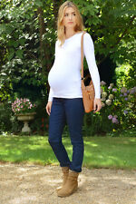 """MATERNITY Stretch Denim Jeans OVER BUMP Short Petite 28"""" - Small to Plus Size"""