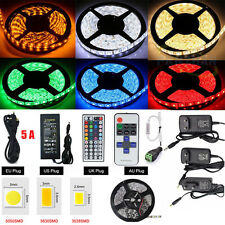 5630 3528 5050 5M ~20M 300 SMD 12V LED Flexible Strip Light Waterproof Adapter