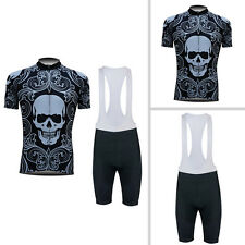 New Mens Sports Bike Wear Cycling Jersey Bib Shorts Suits Bicycle Clothing Skull