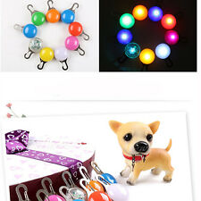 Pet Puppy Safety LED Clip Buckle Night Light Flashing Collar Tag Pendant Fine