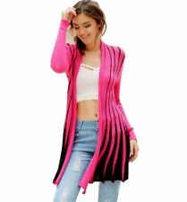 Women Summer Knitted Sweater Shawl Style Large Size Striped Knit Cardigan