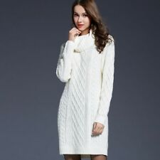 Women Sweater Turtleneck Pullover Dress Long Sweaters Spring Clothes For Women
