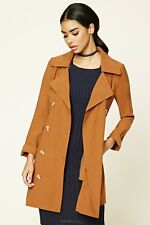 Forever 21 Brown Belted Trench Coat Medium M