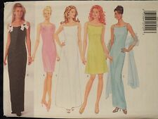 Amazing OOP BUTTERICK 4882 MS/MP Lined Dress & Scarf PATTERN 6-8-10/12-14-16 UC