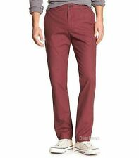 Banana Republic Men's AIDEN SLIM FIT Chino Pant Plum Brand New FREE FAST SHIP