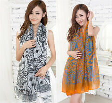Women Ladies Voile Vintage Persia veins Scarf Shawl Wrap Stole Soft Scarves Hot