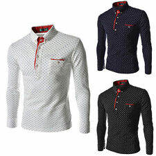 New Mens Luxury Long Sleeve Shirt Casual Slim Fit Stylish Dress Shirts M-3XL d4