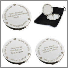 Personalised Compact Mirror Wedding Gift Bridesmaids Mother of The Bride/Groom