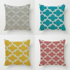Home Decorative Cushion Quatrefoil Printed Style Throw Pillows Car Home Decor