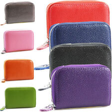UK Ladies Womens Faux Leather Small Zip Coin Bag/Pouch/Wallet/Coin/Key Purse New