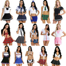 Sexy Women Naughty High School Girl Costume Fancy Dress Outfit Halloween Cosplay