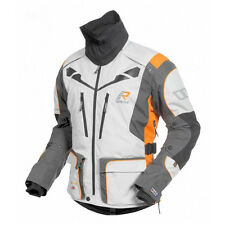 Rukka Orivesi Grey White Orange Gore-tex Mens Motorcycle Jacket D30 Armour
