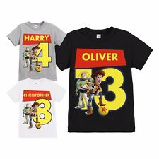 CHILDRENS TOY STORY WOODY & BUZZ BALL PERSONALISED BIRTHDAY T SHIRT