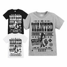 OFFICIAL CHILDRENS TOY STORY WANTED POSTER PERSONALISED T SHIRT