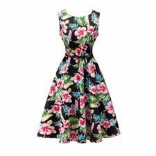 Solid Color Summer Stylish Floral Printed Belted Party Wear Dress For Women