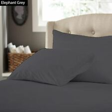 1000TC Elephant Grey Solid { Bed Item & Size } 100% Egyptian Cotton Free Ship US
