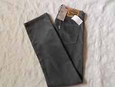 LEVI'S CORDUROYS 514 STRAIGHT FIT PANTS MENS SIZE 29X32 ZIP FLY GREY COLOR NWT