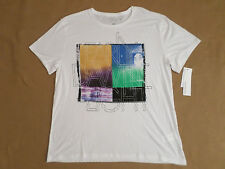 CALVIN KLEIN T-SHIRT MENS SIZE XL SHORT SLEEVES WHITE COLOR NEW WITH TAGS