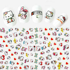 1pcs Fashion Lovely Style Design Nail Art Cartoon 3D Stickers Cute Hello Kitty