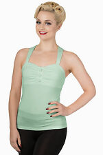 Banned Adorable Green Vintage Look THIS MOMENT TOP 50's Rockabilly Mint
