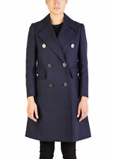 Miu Miu Women's Cotton Double Breasted Trench Coat Navy