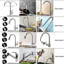 Pull Down Kitchen Sink Faucet Dual-Spray Swivel Spout Tap Hot&Cold Mixer Handle