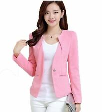 Button Pockets V-Neck Long Sleeved Slim Outerwear Jacket For Women
