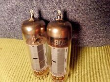 CBS 6BQ5 EL84 Gray Plate Vacuum Tube Matched Pair 1958 Tested Watch Video