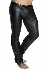 black Long Trousers H039 Men Stripper Gogo Gothic Wetlook S M XXXXXXL