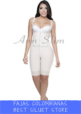 Fajas Colombianas Ann Slim Women's bodyshaper Wide Straps Mid Leg zipper 4103