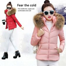 Winter Slim Coat Female Down Jacket Short Hooded Large Fur Collar Cotton Coat GA