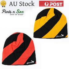 Hat Stripe red and yellow Cap Winter New Beanie Warm Mens Knit Women Baggy Slouc