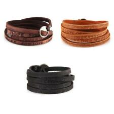 Thin PU Leather Wrist Buckle Stud Cuff Wristband Womens Mens Bracelet Belt
