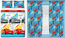 "Cars 3 Lightning Kids Double Duvet Quilt Cover & Curtains - 66""x72"" or 66""x54"""